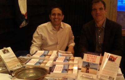 """Running The Coast For A Cure"" Book Signing and Sale, with author Al DeCesaris and Former NFL Player Alan Faneca (photo courtesy of Anna Lucente Hoffmann)."